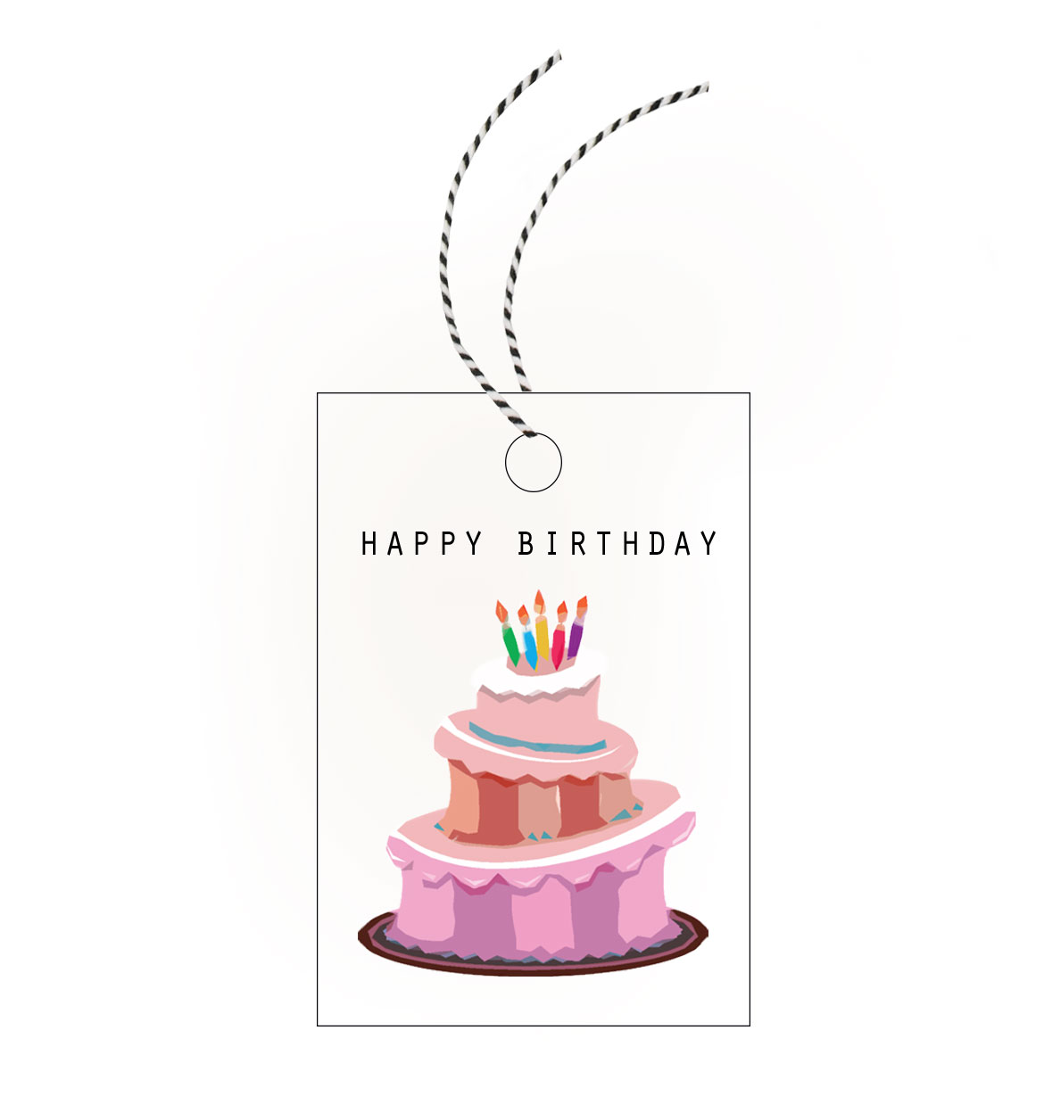 Birthday Cake Gift Tag